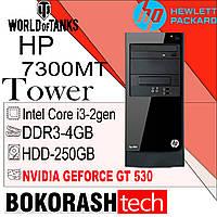 Системный блок Hp Elite 7300 MT \ Intel Core i3-2gen \ DDR3-4GB \ HDD-250GB \ GEFORCE GT 350  (к.00100582), фото 1