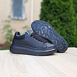 Жіночі кросівки Alixander McQueen чорні, фото 2