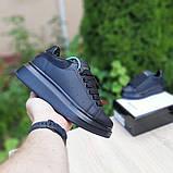 Жіночі кросівки Alixander McQueen чорні, фото 3