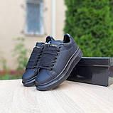 Жіночі кросівки Alixander McQueen чорні, фото 4