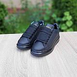 Жіночі кросівки Alixander McQueen чорні, фото 5