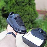 Жіночі кросівки Alixander McQueen чорні, фото 6