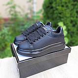 Жіночі кросівки Alixander McQueen чорні, фото 7