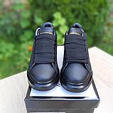 Жіночі кросівки Alixander McQueen чорні, фото 8
