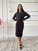 """Костюм 2-ка жіноча сорочка з спідницею, розміри 42-46 """"SELESTA"""" купити недорого від прямого постачальника"""
