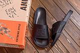 Мужские кожаные  летние шлепанцы Philipp Plein New Line  Black ., фото 8