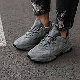 """Мужские/ женские кроссовки Adidas Ozvego «Dark Grey/Green"""", фото 2"""