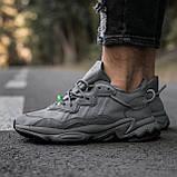 """Мужские/ женские кроссовки Adidas Ozvego «Dark Grey/Green"""", фото 3"""