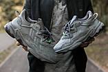 """Мужские/ женские кроссовки Adidas Ozvego «Dark Grey/Green"""", фото 4"""