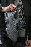 """Мужские/ женские кроссовки Adidas Ozvego «Dark Grey/Green"""", фото 5"""
