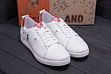 Чоловічі шкіряні кросівки Polo Clasic White, фото 7