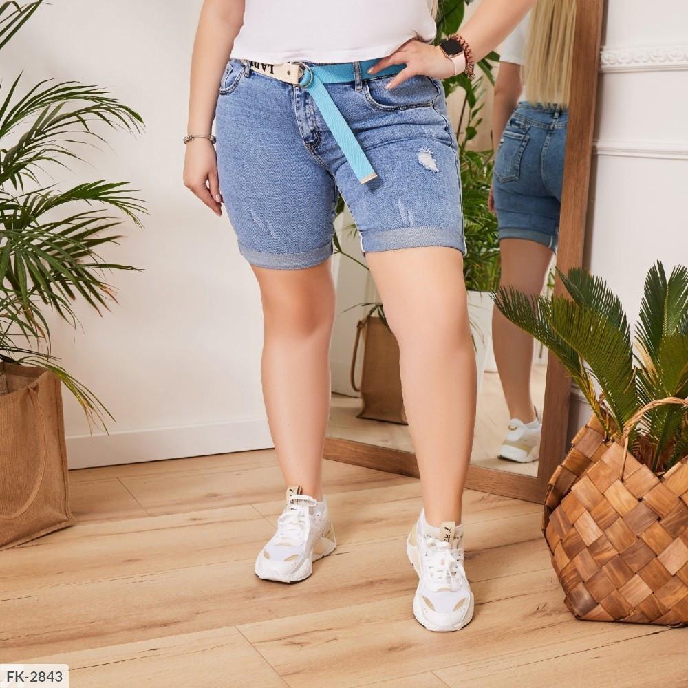 Жіночі джинсові шорти (Батал)