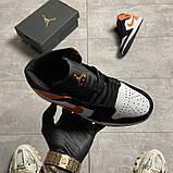Жіночі кросівки Nike Air Jordan 1 White Black Orange, фото 3