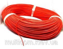 07-11-004RD. Провод монтажный многожильный 28АWG (0,08мм²), силиконовый, красный, 305м/бухта