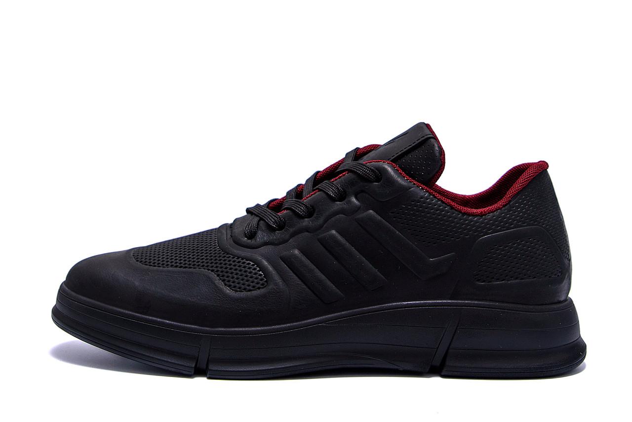 Чоловічі шкіряні кросівки YAVGOR Black