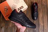 Чоловічі шкіряні кросівки YAVGOR Black, фото 7