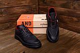 Чоловічі шкіряні кросівки YAVGOR Black, фото 8