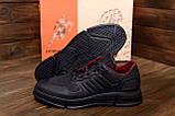 Чоловічі шкіряні кросівки YAVGOR Black, фото 9