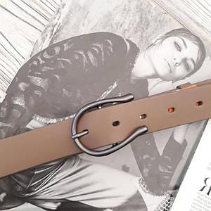 Женский кожаный ремень Светло-коричневый
