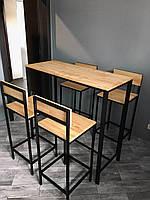 Комплект барных стульев и стола
