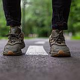 Чоловічі/ жіночі кросівки Adidas Ozvego Haki хакі, фото 2