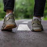 Чоловічі/ жіночі кросівки Adidas Ozvego Haki хакі, фото 3