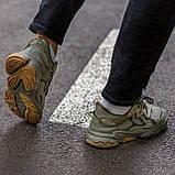 Чоловічі/ жіночі кросівки Adidas Ozvego Haki хакі, фото 4