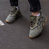 Чоловічі/ жіночі кросівки Adidas Ozvego Haki хакі, фото 5