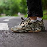 Чоловічі/ жіночі кросівки Adidas Ozvego Haki хакі, фото 6