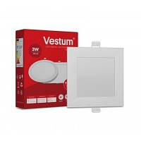 Светильник LED врезной квадратный Vestum 3W 4000K 220V, фото 1