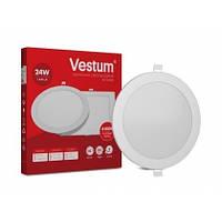 Светильник LED врезной круглый Vestum 24W 6000K 220V, фото 1
