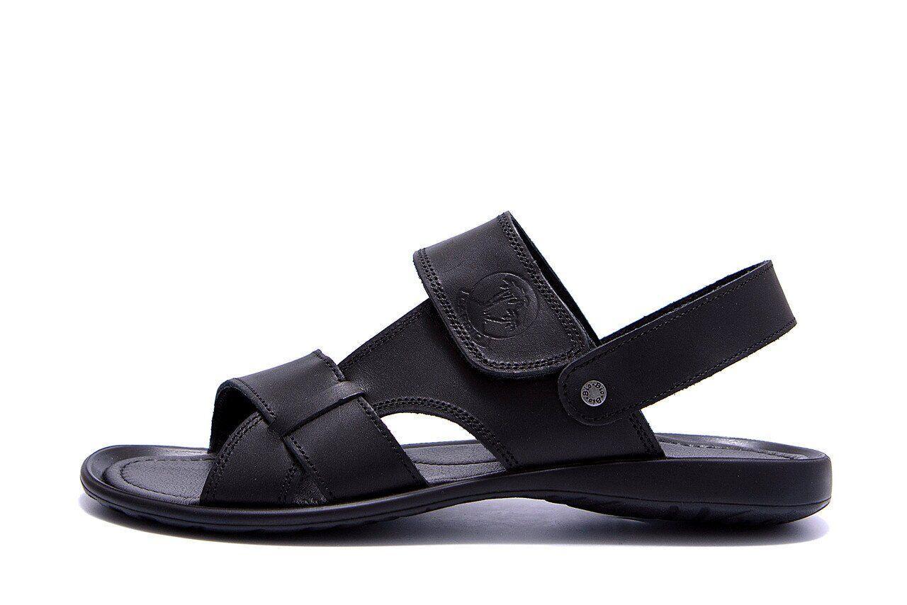 Чоловічі шкіряні сандалі KARDIO Black .