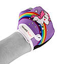 Велорукавички PowerPlay 001 Єдинорог фіолетові XS, фото 6