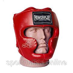 Боксерский шлем тренировочный PowerPlay 3043 красный XS