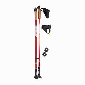 Палки трекинговые (туристические) для скандинавской ходьбы Reflex 202 красный