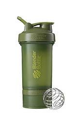 Шейкер спортивний BlenderBottle ProStak 22oz/650ml з 2-ма контейнерами Moss Green (ORIGINAL)