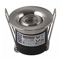 Світильник світлодіодний Horoz Electric SILVIA-1 точковий врізний 1Вт 70Лм 4200K матовий хром (016-039-0001)