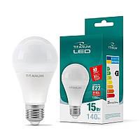 LED лампа TITANUM A65 15W E27 4100K, фото 1