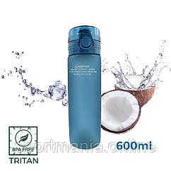 Пляшка для води CASNO 650 мл KXN-1157 Tritan Синя