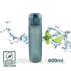 Пляшка для води CASNO 650 мл KXN-1157 Tritan Сіра