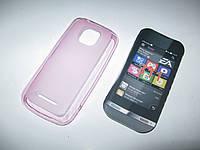 Чехол силиконовый Nokia Asha 311 сирень
