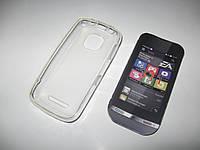 Чехол силиконовый Nokia Asha 311 белый