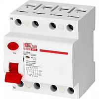 Вимикач автоматичний диференціальний Horoz Electric SAFE 100А 230В 30мА 4Р (114-003-4100)