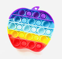 Pop It сенсорна іграшка, пупырка, поп іт антистрес, pop it fidget, попит, яблуко райдужне