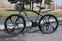 Велосипед горный на литых дисках BMW 21 скорость, Чёрный взрослый детский подростковый