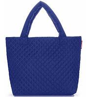 Сумка женская стёганая POOLPARTY Eco-1 синяя