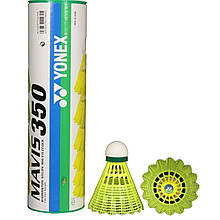 Воланы для бадминтона Yonex Mavis 350 Yellow-Slow 6 шт 9806, КОД: 1718442