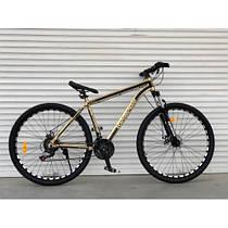Спортивный двухколесный велосипед TopRider 680,ЗОЛОТОЙ 26 дюймов, алюминиевый