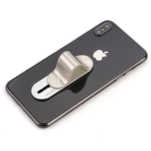 Держатель для телефона Momostick iSeries, серебристый, лучше чем Попсокет и Кольцо!