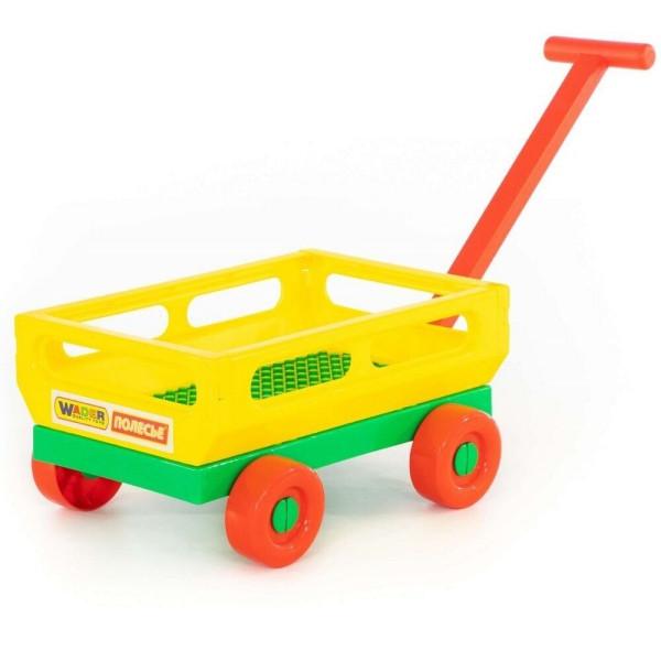 Дитячий візок для продуктів, з ручкою, жовта, Полісся-Wader, (44396-1)